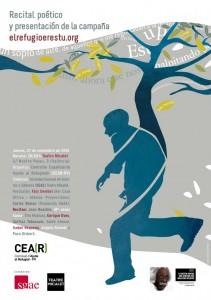 CEAR celebra en Valencia un recital poético y la presentación de su campaña 'elrefugioerestu.org'