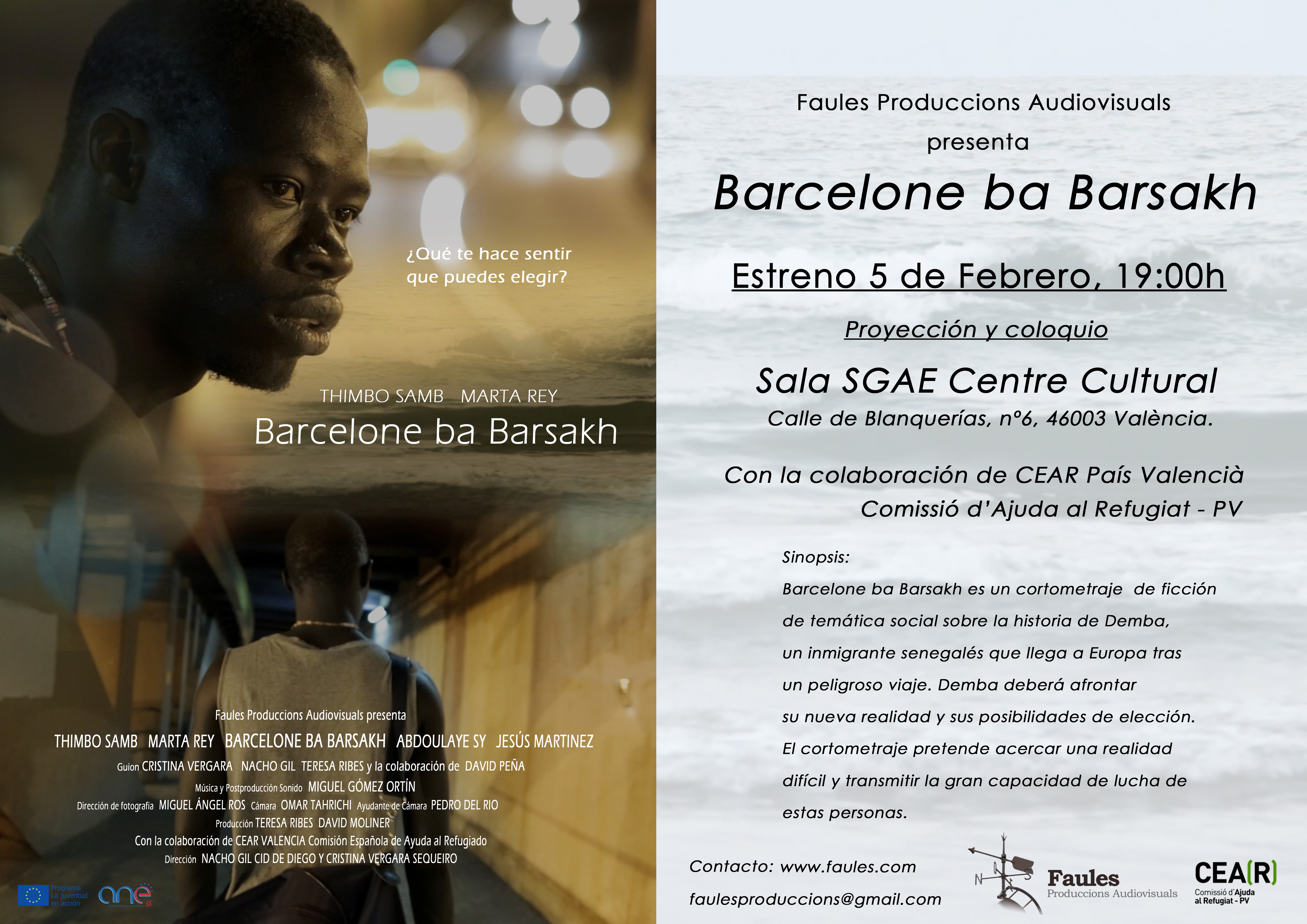 Estreno Barcelone ba Barsakh - 5 Febrero SGAE