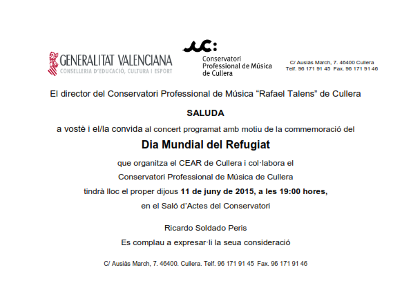 Concierto Conservatorio de Cullera