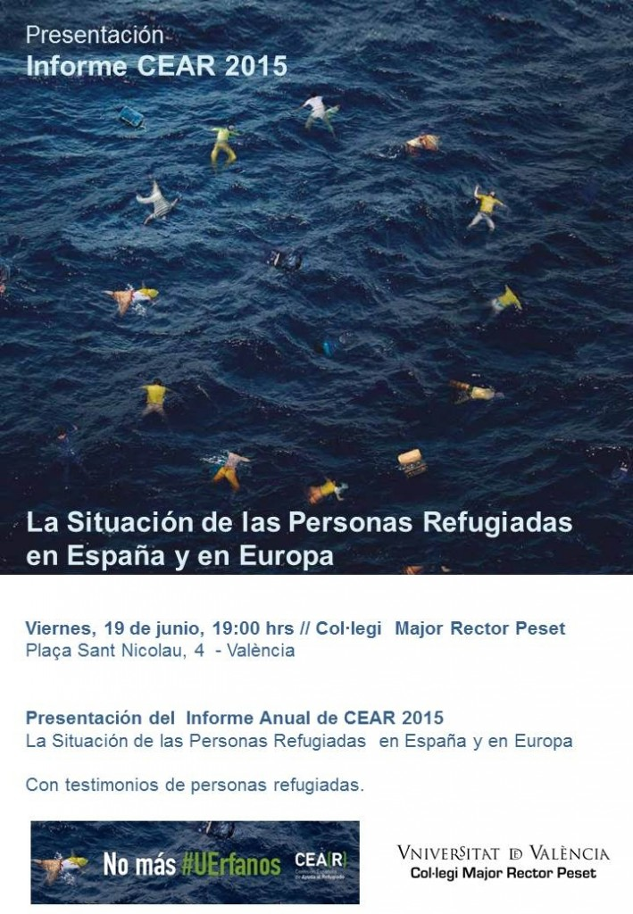 Presentación informe CEAR 2015 en Valencia