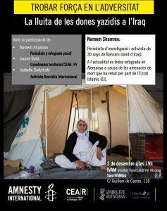 """Jornada """"Trobar Força en l'Adversitat; La lluita de les dones yazidis a l'Iraq""""."""