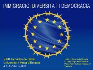 XXIII Jornades de Debat, Immigració, Diversitat i Democràcia