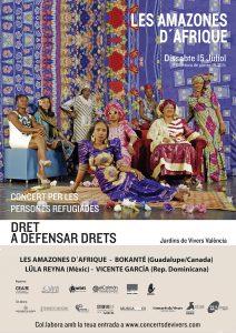 """Concert de Les Amazones d'Afrique """"Dret a defensar el drets"""""""