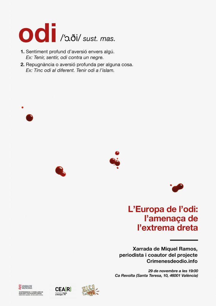 """La xarrada """"L'Europa de l'odi: l'amenaça de l'extrema dreta""""."""