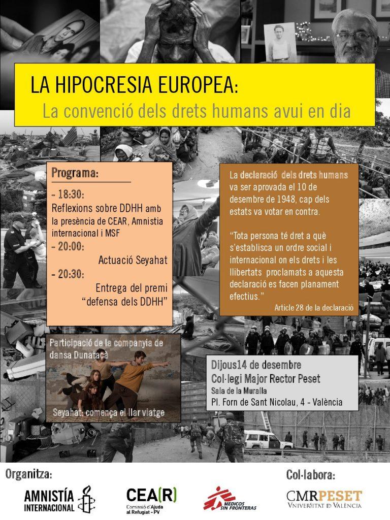 La hipocresia Europea: La convenció dels drets humans avui en dia
