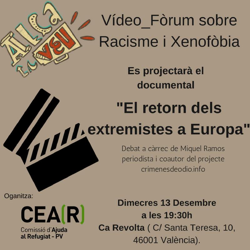13 Desembre –>Vídeo Fòrum sobre racisme i xenofòbia