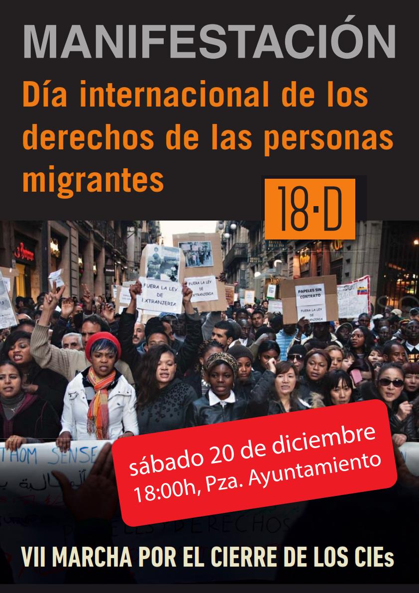 MANIFESTACIÓN Día internacional de los derechos de las personas migrantes