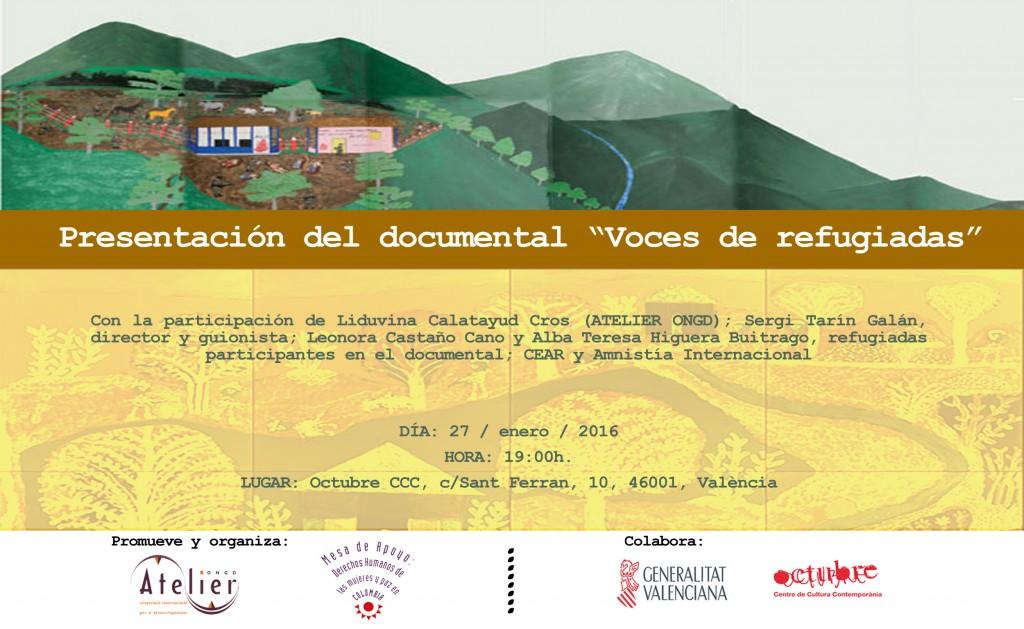 Presentación documental Voces de refugiadas